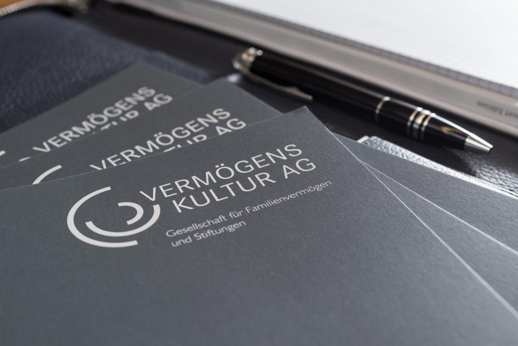 Broschuere des unabhaengigen Vermoegensverwalters VERMOEGENSKULTUR AG aus Muenchen