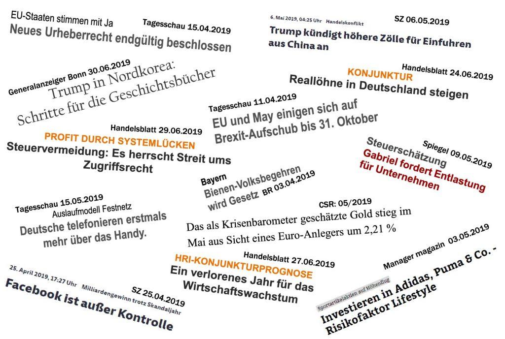 Headlines 2. Quartal 2019