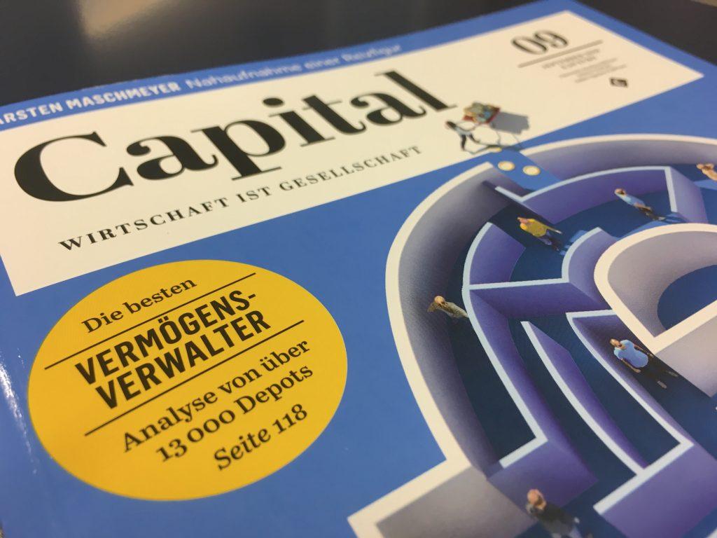 VERMOEGENSKULTUR AG als einer der besten Vermoegensverwalter durch das Magazin Capital ausgezeichnet.